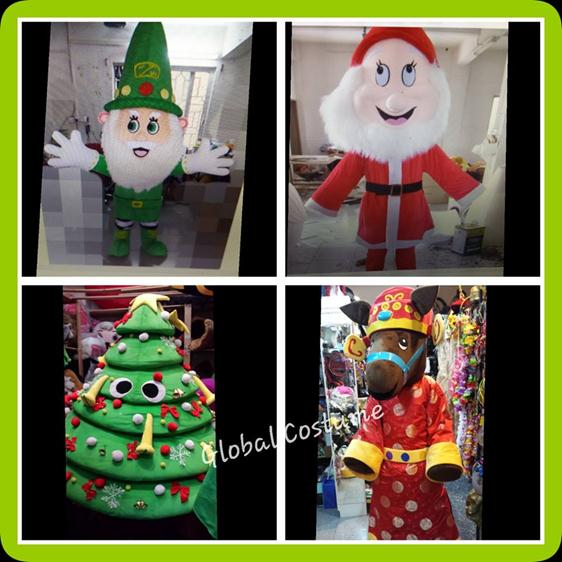 elf, santa claus ,christmas tree, cny horse